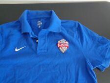 London 2012 Olympics NIKE Polo Shirt NBC Size MEDIUM Blue FREE SHIPPING