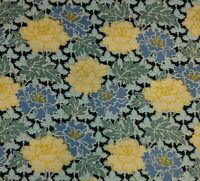 BTY Timeless Treasures ART NOUVEAU Yellow Blue Floral  Cotton Quilting Fabric