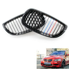 For BMW E92 E93 3 Series 2DR Coupe Cabriolet Gloss Black M-Color Kidney Grille