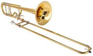 Bach 42BOF Stradivarius F Attachment Trombone Lacquer Gold Brass Bell (open box)