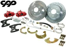 """73 87 Chevy C10 Truck Rear 12"""" Big Disc Brake Kit Red Calipers"""