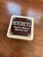 """Vintage Hershey Metal Tin Can Container Box 1990 """"Vintage Edition 1912 #1"""" Style"""