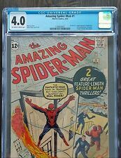🔥AMAZING SPIDER-MAN #1💎CGC 4.0💎 MARVEL 1963 💥NEVER CLEANED OR PRESSED💥