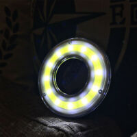 1Pc Round COB LED Bulb with Clip Hook Camping Hanging Tent Lamp White Light