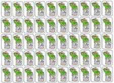 """50 Oscar The Grouch Go Away! Envelope Seals / Labels / Stickers, 1"""" by 1.5"""""""