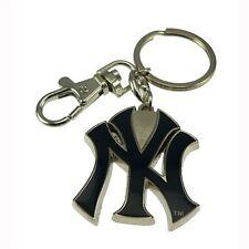 MLB New York Yankees Baseball Heavyweight Keychain Tag Ring NY Key ring Silver