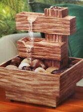 Sarah Peyton NATURE WOOD FOUNTAIN Home/Office Soothing Rock Meditation Zen NEW