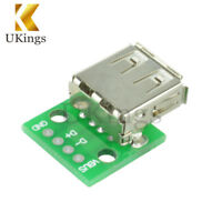 10PCS Type A DIP Female USB To 2.54MM PCB Board Adapter Converter For Arduino