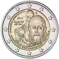 Griechenland 2 Euro 2014 Gedenkmünze El Greco bankfrisch