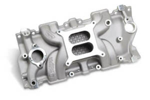 Weiand Street Warrior Intake Manifold Satin For Chevy Small Block V8 8120WND
