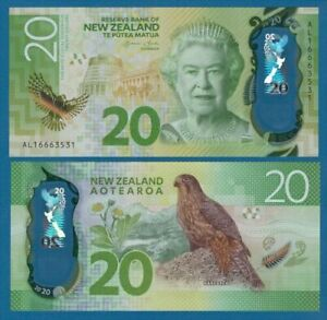 NEW ZEALAND - 2016 20 Dollars UNC Banknote