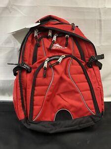 High Sierra Red Swerve Laptop Backpack 17 inch Laptop Tablet Organizer