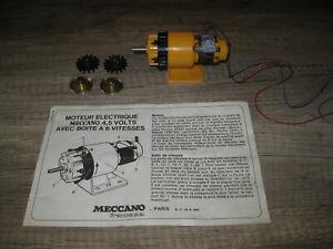 MECCANO   MOTEUR électrique de 4,5 à 12 volts avec boite  6 VITESSES 6 rapports