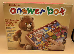 Teddy Ruxpin Bear ANSWER BOX Vintage 1988 NEW