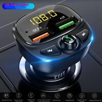 Wireless Bluetooth 5.0 Car FM Transmitter QC3.0 Hands-free Radio AUX Adapter USB