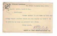 1893 UX10 Postal Card, New Britain CT, Advertising, Saddlery Hardware