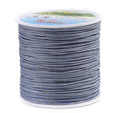 36 COLORS 100meter x 0.8mm Nylon Chinese Knot Cord Rattail Beading Thread String