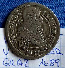6 Kreuzer Graz 1689 Leopold I