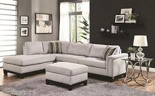 Mason Track Arm Reversible Sofa Chaise Sectional Blue Grey Velvet Living Room
