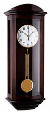 Klassische Wanduhr Pendel Funk Uhr Nussbaum Westminster Regulateur Funkuhr