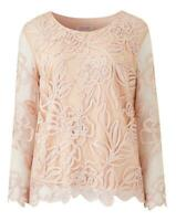 Nightingales Women's Lace Floral Blush Cornelli Top Size 22 New With Tags