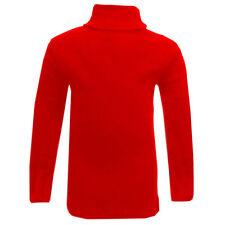 T-shirts et débardeurs rouge à manches longues pour fille de 2 à 16 ans en 100% coton