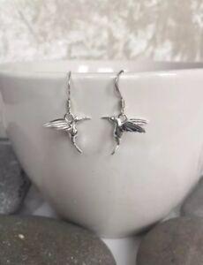 Sterling Silver Bird Earrings. Silver Bird Earrings. Love Bird Dangle Earrings