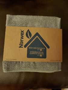Norwex Body And Face 3 Pack Washcloth Microfiber Costal Gray
