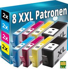 8x CHIP PATRONEN für HP-364XL B8550 C309a C309g C309h C310a C410b C510a C5300