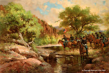 Robert Summers limited edition print, Move Out (Buffalo Soldiers on patrol)