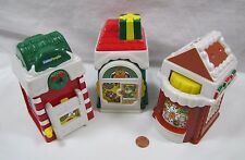 Fisher Price Little People CHRISTMAS HOLIDAY VILLAGE MAIN STREET Set of 3 Rare