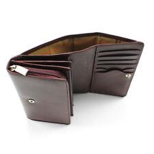 Tony Perotti Italian Leather Zip Around Clutch Wallet w/ Coin Pocket - Burgundy