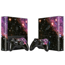 Xbox 360 E Console Skin Decal Sticker Galactic + 2 Controller Custom Design Set