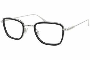 Tom Ford TF5522 001 Eyeglasses Men's Black/Silver Full Rim Optical Frame 47mm