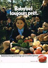 publicité advertising  1971   BABYBEL  fromage scout