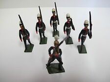 6 Large Tin Lead Soldiers Antique Collectibles 1920 circa 03