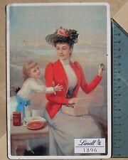 Elegante Targa pubblicitaria in lamiera anni '40 Italia - Cioccolato LINDT
