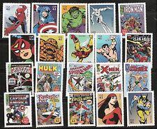 2007 #4159 Marvel COMICs SUPER HEROES 20 singles MNH