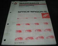 Werkstatthandbuch Elektrik Mitsubishi Space Wagon Schaltpläne ab 1989