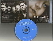 DISHWALLA Somewhere in the Middle w/ RARE MIX EDIT PROMO DJ CD Single 2002 MINT