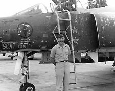 USAF Colonel Robin Olds F-4 Phantom Pilot Vietnam War Photo
