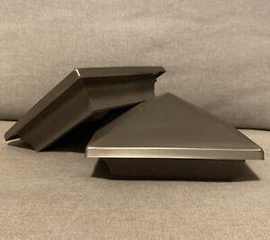"2 TimberTech 5"" Stainless Top Post Cap Railing System T5X5 Postcap C-VTG-12C"
