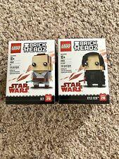 Lego 41602 41603 Brick Headz Rey & Kylo Ren New Sealed