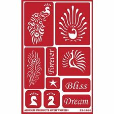 Armour Reusable Over n Over Glass Etching Stencil - ONO Feathered Bliss