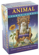 Animal Tarot Cards : A 78 Card Deck And Guidebook by Doreen Virtue (Card Deck, 2019)