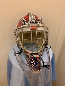 Jeremy Brodeur Oshawa Generals 2014-15 Game Worn Game Used Goalie Mask Helmet