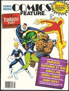 COMICS FEATURE # 46 FANZINE MAGAZINE FANTASTIC FOUR JUNGLE JIM GORGO KONGA