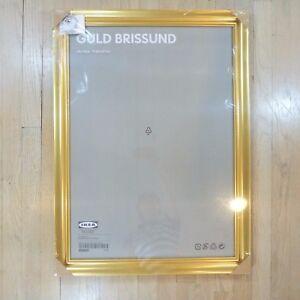 "Ikea Large Frame Guld Brissund Gold Tone New Sealed 14743 Discontinued 30""x22.5"""