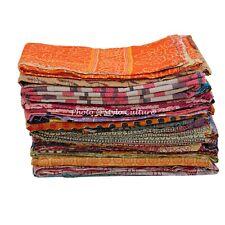 Vintage Bedding Quilt Home Decorative Kantha Bedspread Coverlet Blanket Throw