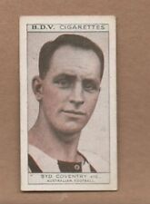 1933 BDV Cigarette card EX+ SYD COVENTRY COLLINGWOOD MAGPIES back PETER PAN